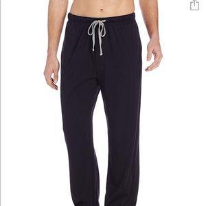 Men's solid knit sleep pants